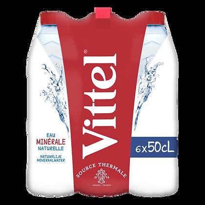 Pack de 6 bouteilles d'eau minérale naturelle VITTEL 50cl | CARREFOUR