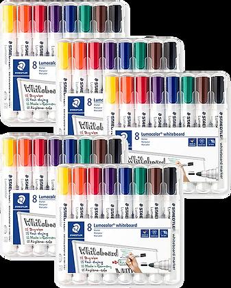 Lot de 5 packs de 8 Feutres tableau Blanc STAEDLER Lumocolor 351 | AMAZON