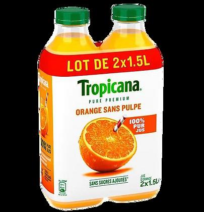 Pack de 2 bouteilles de jus d'orange TROPICANA 1,5L | CARREFOUR