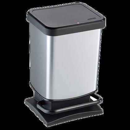 Poubelle de cuisine 20L à pédale ROTHO polypropylène gris | LEROY MERLIN