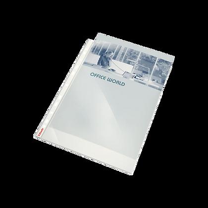 Paquet de 100 pochettes perforées lises A4 transparent 80µ | BRUNEAU