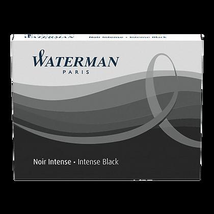 Boîte de 8 cartouches d'encre pour stylo-plume Waterman, encre noire | STAPLES