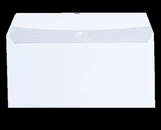 Boîte de 500 enveloppes blanches DL 110 x 220 mm 80g sans fenêtre | STAPLES