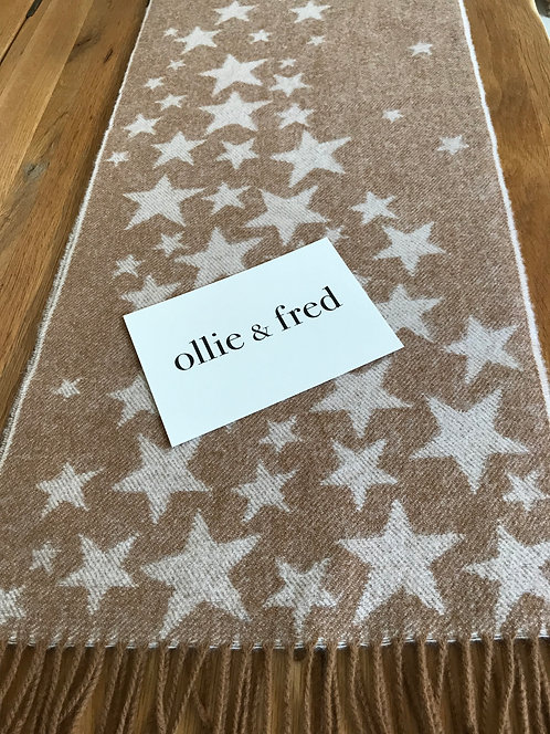 ollie and fred,star scarf uk,winter scarf with stars,mother's day gift ideas,gift ideas for mother's day