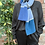 ollie and fred blue scarf, christmas gift scarf, wool anniversary gift, 7 year anniversary gift, gifts made in Scotland