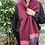 lambswool scarves, gift ideas for mums, plum coloured scarf, plum and pink scarf,