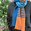 Thumbnail: orange and teal striped scarf