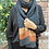 ollie and fred, charcoal coloured scarf, black and orange lambswool striped scarf,wool gift ideas