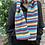 warm striped scarf, warm rainbow scarf, lambswool rainbow scarf, ollie and fred