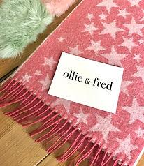 pink star scarf