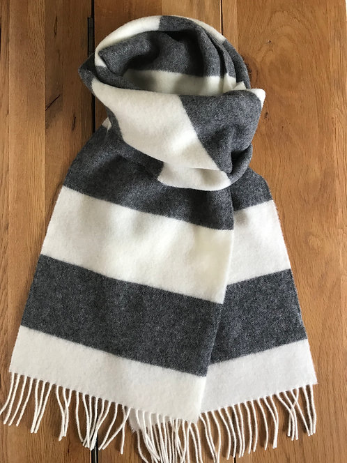 Grey and white scarf,white and grey scarf,ollie and fred,luxury gift ideas for women,luxury gift ideas for men,mother's day