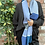shades of blue scarf, sustainable gifts, slow fashion gifts,sustainable fashion,ollie and fred