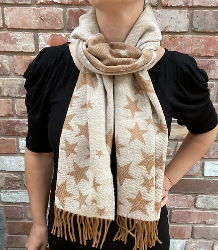 ollie and fred,luxury star scarf,christmas gift ideas for people who love stars,star christmas gift ideas