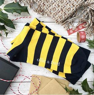 bee stripe socks