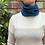 merino blue snood,merino wool blue neck warmer, merino blue neck gaiter,