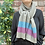 light grey scarf with blue and purple stripes, lambswool scarf, sustainable gift ideas, gifts made in Scotland