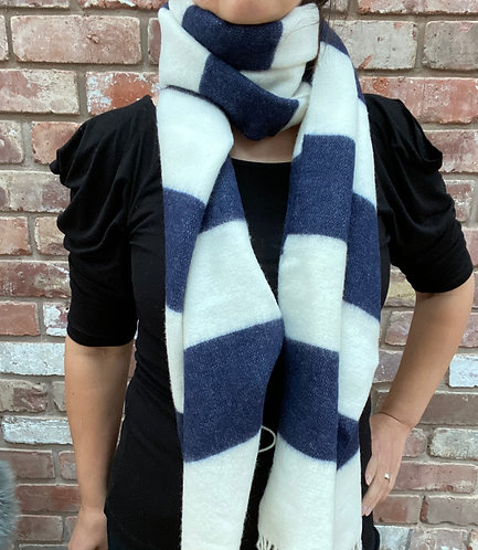 ollie and fred,christmas gift scarf,lambswool scarf,striped scarf,christmas gift from small businesses