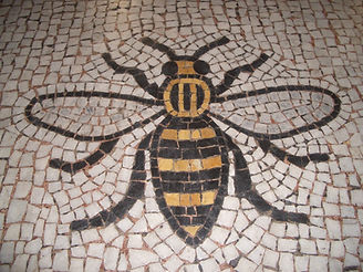 mosaic Manchester bee