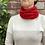 red extra fine merino wool neck warmer, red extra find merino wool neck gaiter, red extra fine merino wool snood,