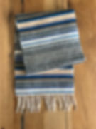 lambswool scarf, striped scarf, 7th wedding anniversary, gifts for him, gift ideas for him