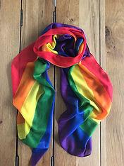 pride rainbow scarf