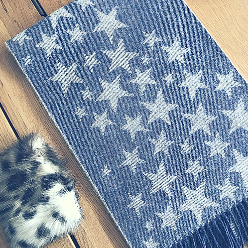 luxury star scarf,ollie and fred,luxury birthday gifts for women,mother's day gift ideas,luxury mother's day gifts