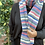 light coloured rainbow scarf, gift wrapped scarf, ethical gift ideas for Christmas