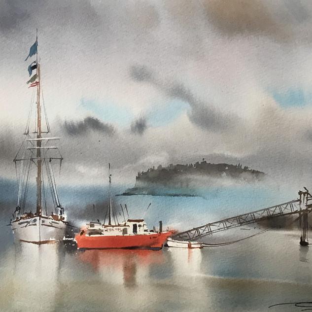 Ships in Bar Harbor, Maine, USA