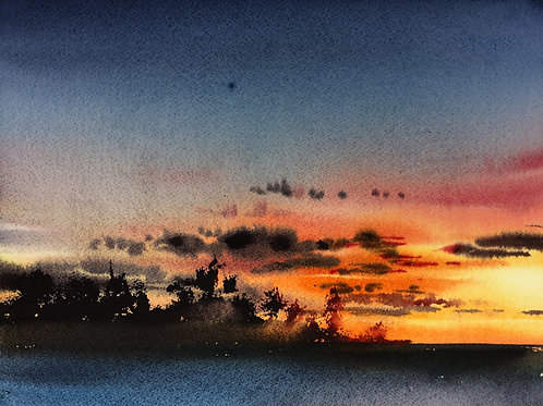 Sunset. Lesson Nine: The Clouds, Part Three