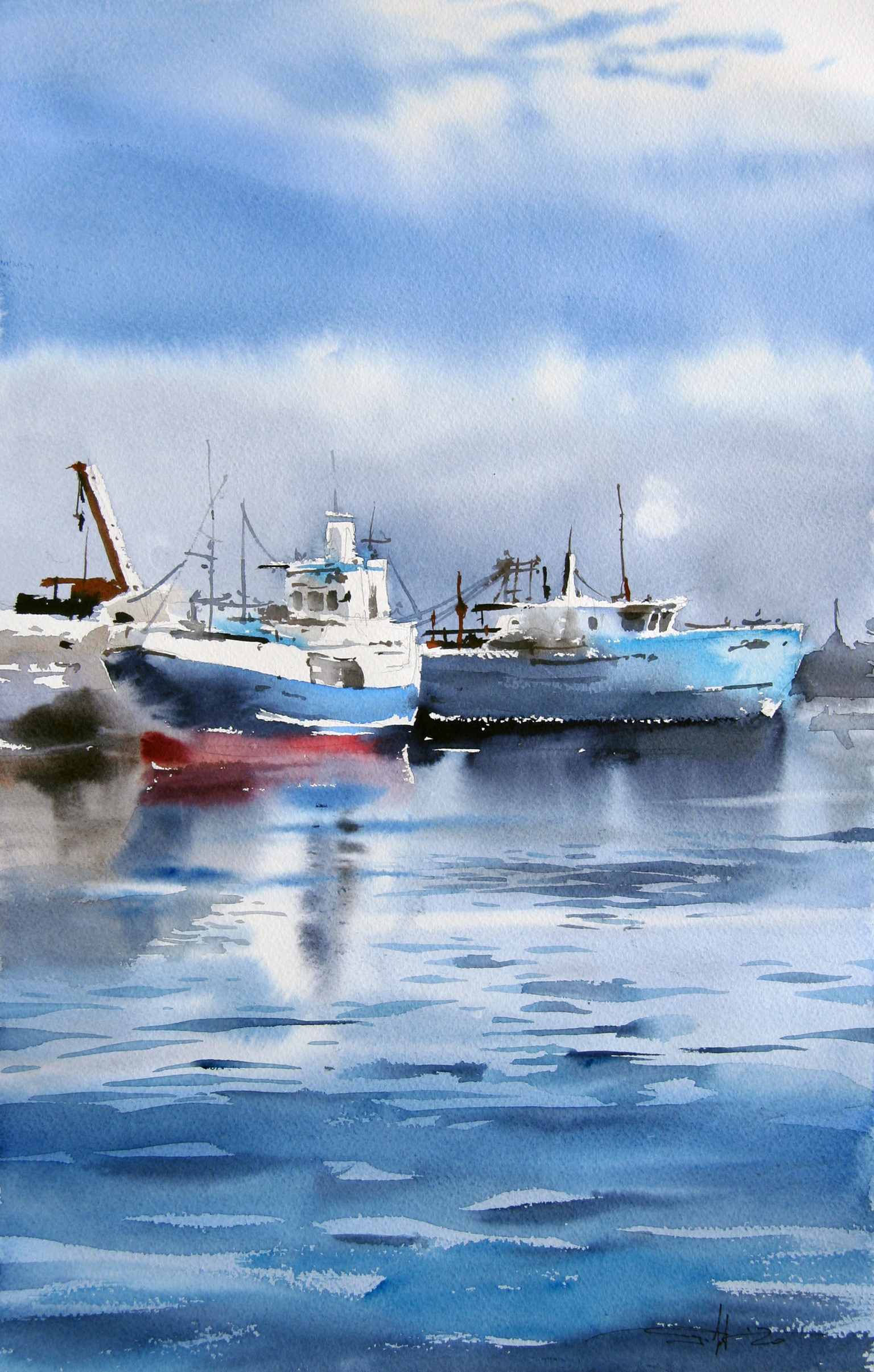 Blue in Port