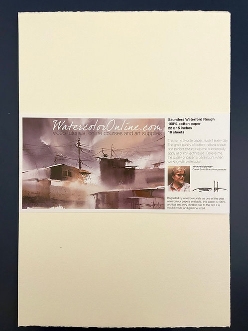 Saunders Waterford Rough 100% cotton paper