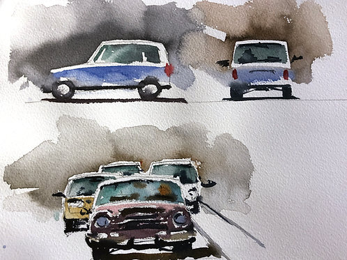 Urban Sketching Course 1: Part Two: People and Cars in a Cityscape