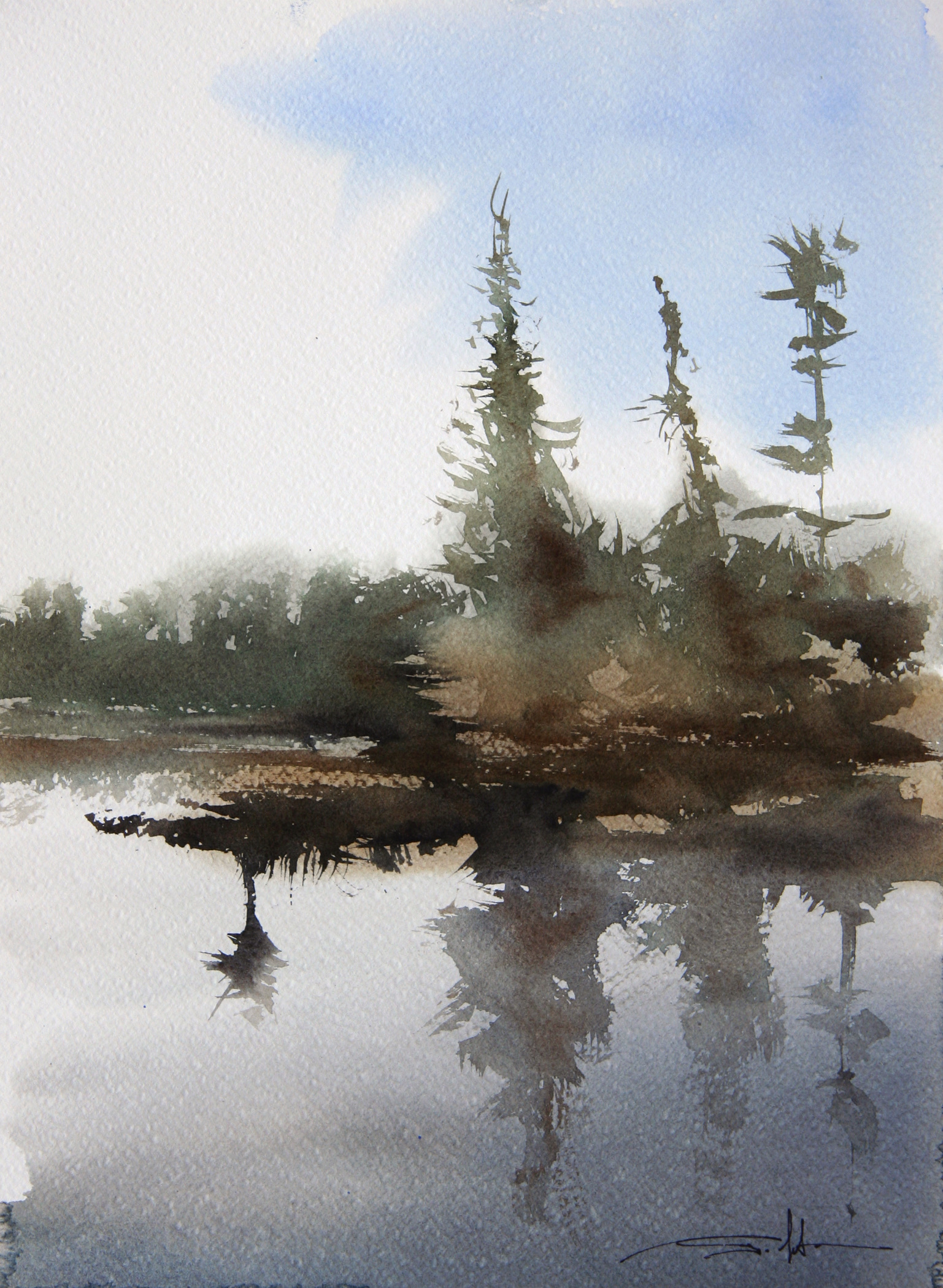 Pine Trees on the Island