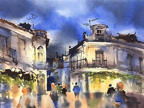 Urban Sketching Course2: Part Three: Night City