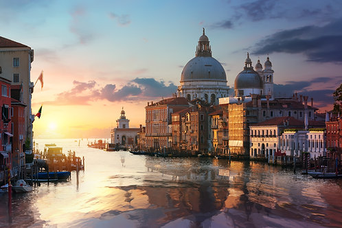 Venetian Basilica at Sunrise