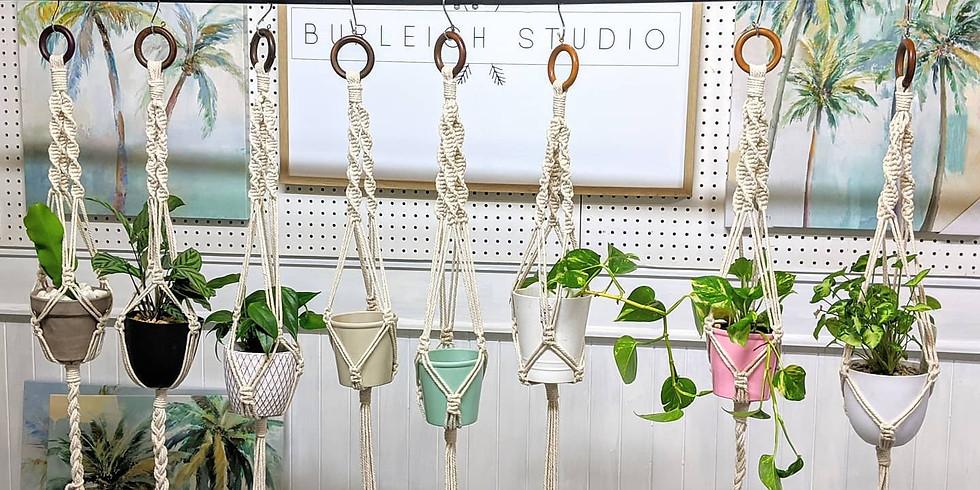 Macramé Workshop Pot Plant Hanger  SOLD OUT