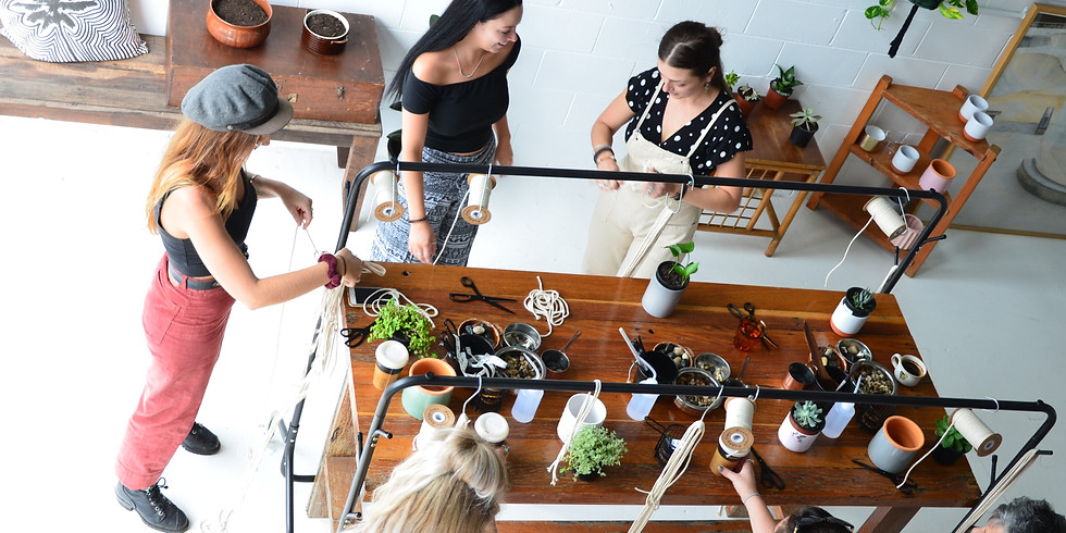 Macramé Workshop Pot Plant Hanger