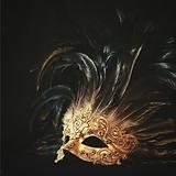 Black Gold Mask Masquerade Invitation.pn