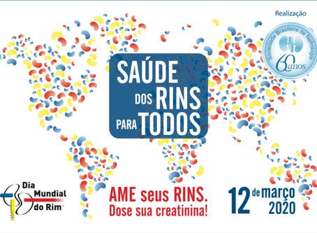 Campanha mundial alerta para a importância da saúde dos rins