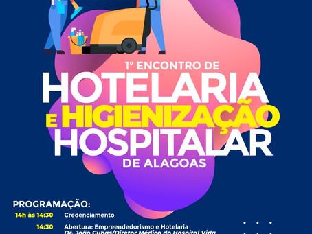 1º encontro de hotelaria hospitalar realizado em Maceió.