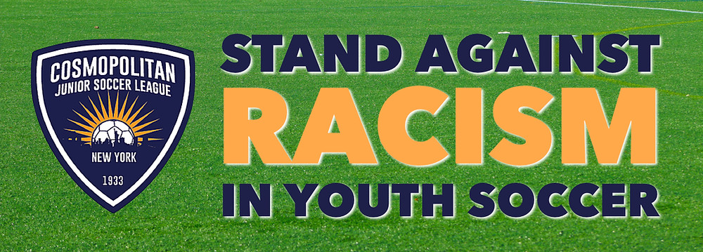 The CJSL wants all NYC youth soccer teams to take a stand against racism on April 13-14, 2019