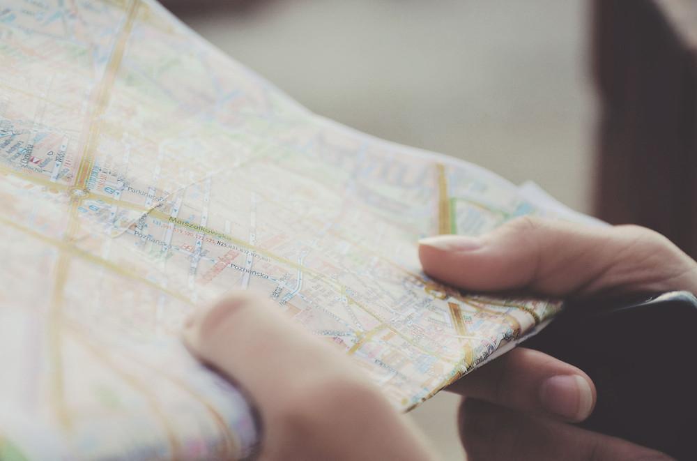 軽貨物配送では地図も大切