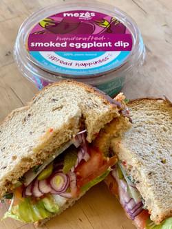 100 % plant-based Smoked eggplant dip