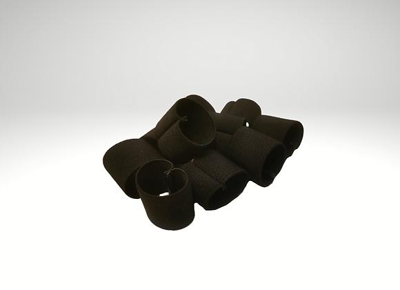 """1"""" Black Elastic Loops (Pack of 10)"""