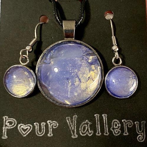 Purple Metallic Jewelry Set