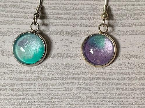 Purple Mint Shimmer Earrings