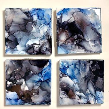 Black Blue Coasters