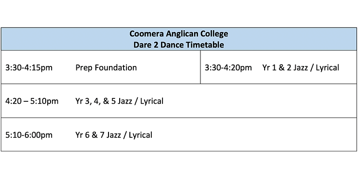 CAC Timetable Term 2