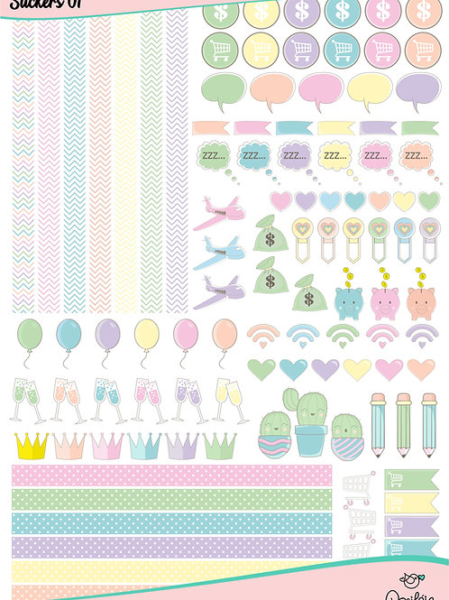 Arquivo Digital Stickers para Planner 01