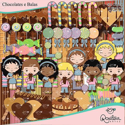 Kit Digital Chocolates e Balas